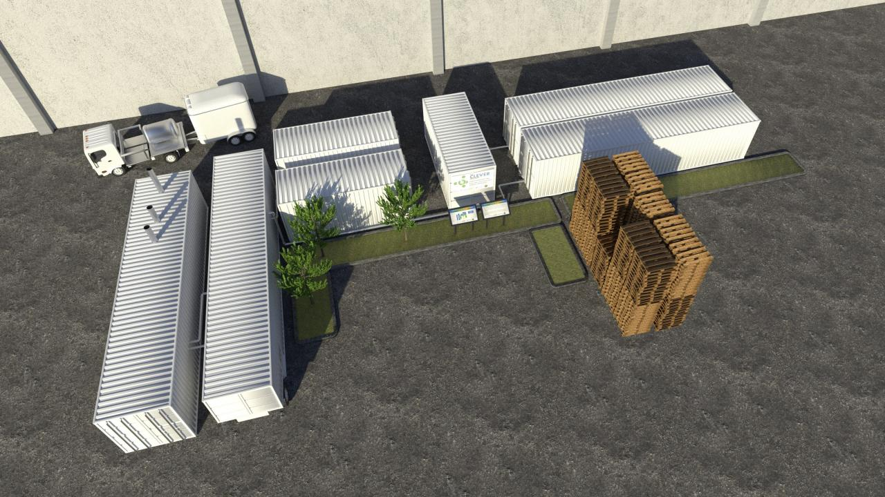 Site Rendering of Small Scale Anaerobic Digestion Facility